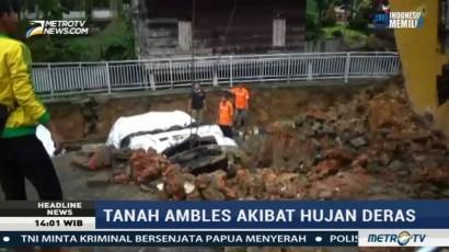 Halaman Rumah Dinas Wali Kota Jambi Ambles