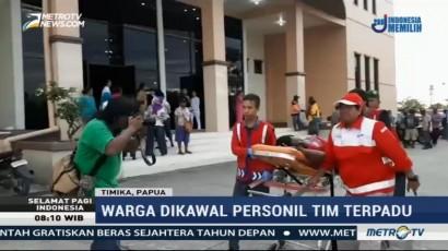 Tiba di Timika, Ratusan Warga Korban Sandera KKB Kelelahan
