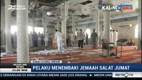 Masjid di Mesir Diserang, 235 Tewas
