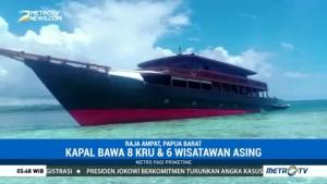 Kapal Wisata Karam Diduga Menabrak Terumbu Karang di Raja Ampat