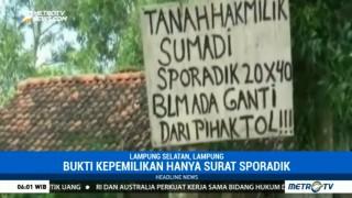 58 Warga Tanjungsari Tolak Ganti Rugi JTTS