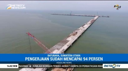 Pembangunan Pelabuhan Kuala Tanjung Capai 94%