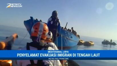 400 Imigran Gelap Dievakuasi dari Perairan Libya