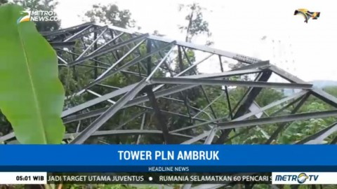 Hujan Deras, Tower PLN di Sukabumi Roboh