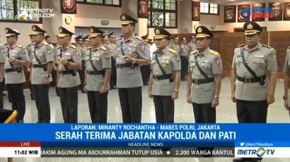 Kapolri Pimpin Upacara Sertijab Tiga Kapolda
