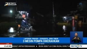 Tiga Pompa Dioperasikan untuk Alirkan Banjir Porong
