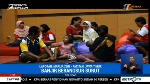 Ratusan Korban Banjir dan Longsor Dipindahkan ke Kantor Bupati Pacitan