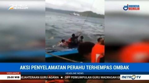 Video Amatir Penyelamatan Penumpang Kapal yang Terbalik di Perairan Sumbawa