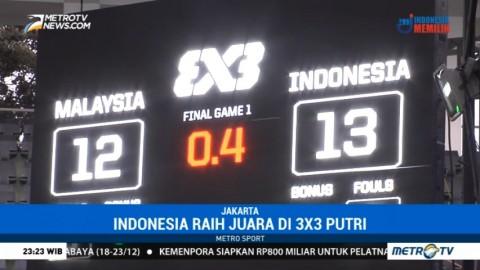Basket 3x3 Putri Indonesia Raih Emas di Asia Challenge 2017