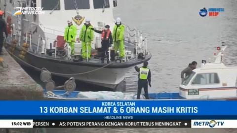 Kapal Nelayan Tabrak Kapal Pengisian Bahan Bakar di Korsel, 7 Tewas
