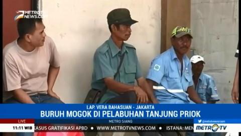 Ribuan Buruh Pelabuhan di Tanjung Priok Mogok Kerja