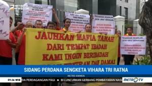 Sengketa Vihara Tri Ratna, Massa Gelar Aksi Bisu di Gedung PN Jakpus