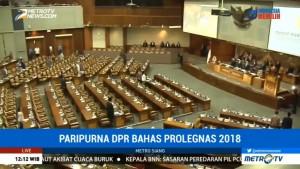 DPR Tetapkan 50 RUU Masuk Prolegnas 2018