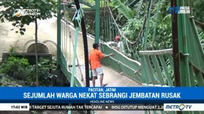 9 Jembatan Sungai Grindulu di Pacitan Rusak Diterjang Banjir