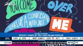 Shape of You Dinobatkan Jadi Lagu Paling Populer di Spotify