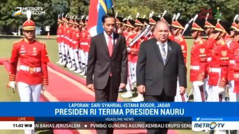 Jokowi Terima Kunjungan Presiden Nauru di Istana Bogor