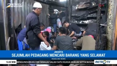 Gereja dan 20 Kios di Pasar Gembrong Lama Terbakar
