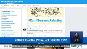 #KamiBersamaPalestina Jadi Trending Topic di Twitter