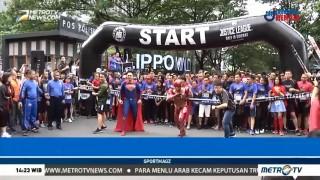 Lomba Lari dengan Kostum Superhero