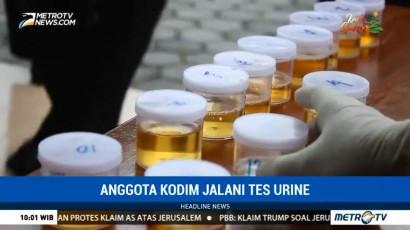 Prajurit TNI di Gunung Kidul Jalani Tes Urine