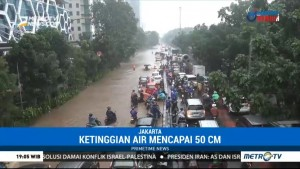 Banjir di Cawang Capai 50 CM