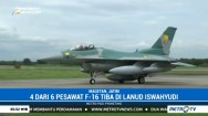 4 Pesawat F-16 Hibah dari AS Tiba di Lanud Iswahjudi