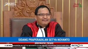 Sidang KTP-el Ditayangkan, Praperadilan Novanto Diskors