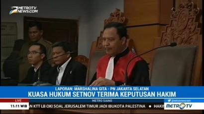 Pihak Setya Novanto Terima Praperadilan Gugur