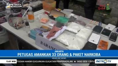Polisi Amankan 33 Orang Terkait Narkoba di Tanah Kusir