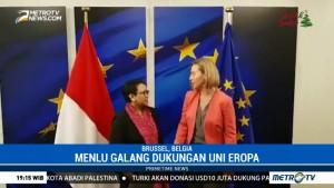 Menlu RI Galang Dukungan Uni Eropa untuk Palestina