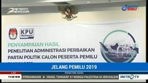 KPU akan Umumkan Parpol yang Lolos ke Tahap Verifikasi Faktual