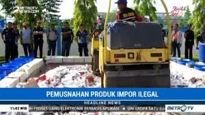 Bea Cukai Riau Musnahkan Barang Impor Ilegal