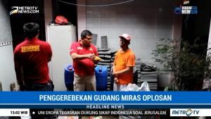 Polisi Gerebek Gudang Miras Oplosan di Jepara