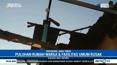 Puluhan Rumah di Pasuruan Rusak Diterjang Angin Puting Beliung