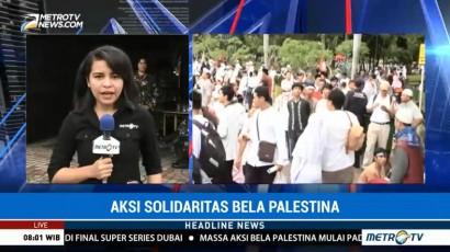 Massa Aksi Bela Palestina Padati Monas