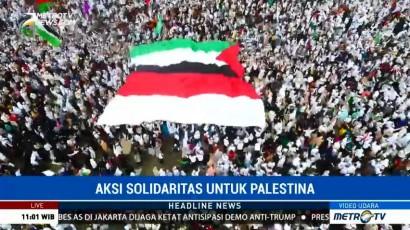 Massa Aksi Bela Palestina Mulai Membubarkan Diri