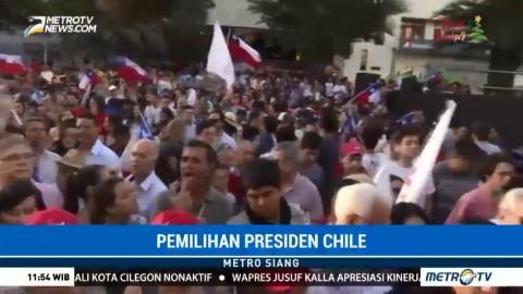 Warga Rayakan Kemenangan Sebastian Pinera sebagai Presiden Chile