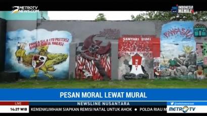 Pesan Moral Lewat Mural di Tembok Kridosono