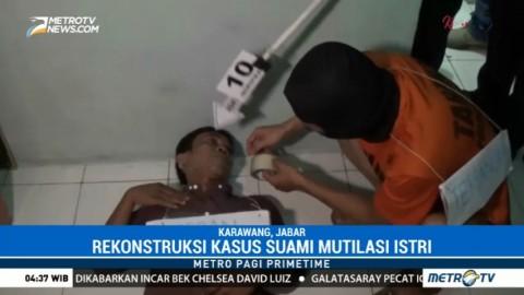 Polisi Gelar Rekonstruksi Kasus Mutilasi di Karawang