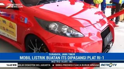 Jokowi Jajal Mobil Listrik Buatan ITS di Tol Sumo