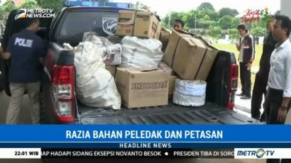Polisi Sita 100 Kg Bahan Peledak dan Ribuan Petasan di Tangerang