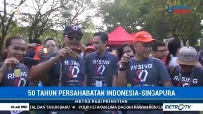 Peringati 50 Tahun Persahabatan Indonesia-Singapura, Digelar Lomba Lari Jubilee Run