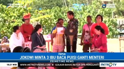 Ketika Jokowi Minta Mama-mama Papua Bacakan Puisi