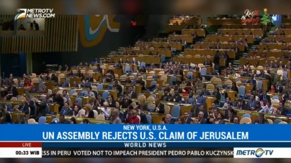 UN Assembly Rejects U.S. Claim of Jerusalem