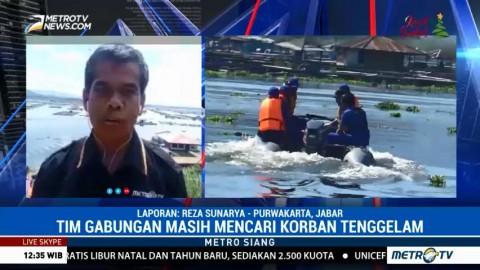 Pencarian Korban Kapal Tenggelam di Waduk Cirata Masih Dilakukan