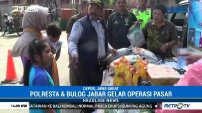 Polresta Depok Gelar Operasi Pasar