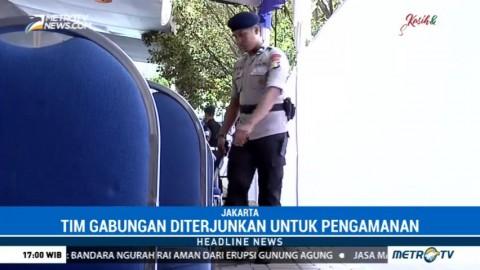 Polisi Lakukan Sterilisasi Area Gereja Katedral
