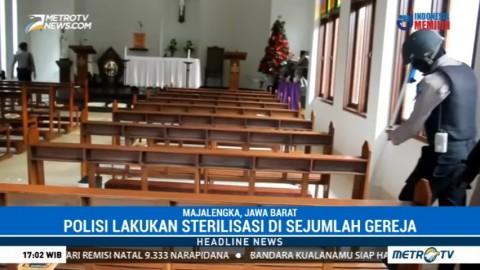 Jelang Misa Natal, Polisi Sterilisasi Sejumlah Gereja di Majalengka