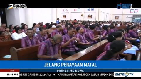 Misa Natal di Gereja Kelahiran Santa Perawan Maria Surabaya Berlangsung Khidmat