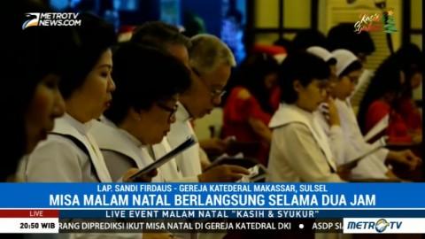 Misa Natal di Gereja Katedral Makassar Berlangsung Khidmat